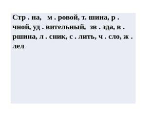 Стр. на,м .ровой, т. шина,р.чной, уд .вительный,зв.зда, в .ршина, л . сник