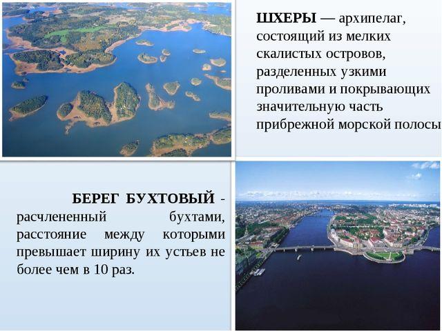 БЕРЕГ БУХТОВЫЙ - расчлененный бухтами, расстояние между которыми превышает ш...