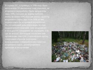В странах ЕС, к примеру, в 1990 году было изготовлено 50 миллионов тонн упако