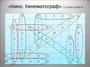 «Кино. Кинематограф» 11 класс Юнит-6