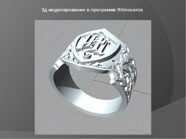3д моделирование в программе Rhinoceros