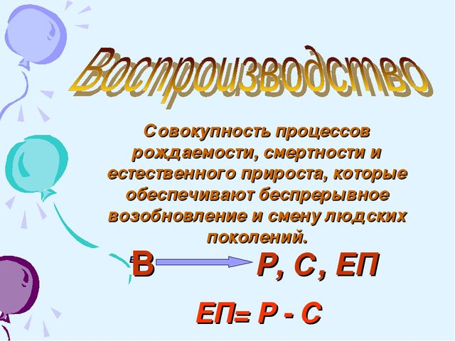 Совокупность процессов рождаемости, смертности и естественного прироста, кото...