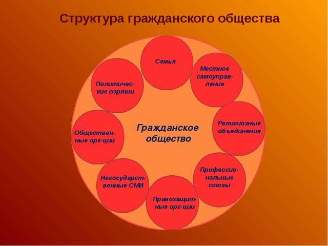 Структура гражданского общества