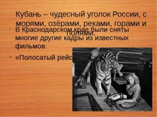 Кубань – чудесный уголок России, с морями, озёрами, реками, горами и полями.