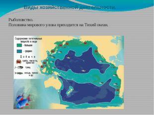 Виды хозяйственной деятельности. Рыболовство. Половина мирового улова приходи