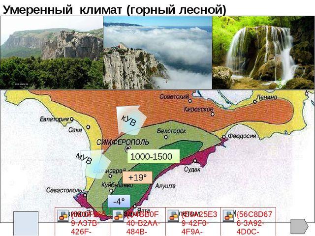 Тест 1. Для большей части Крыма характерен климат: а) умеренно континентальны...