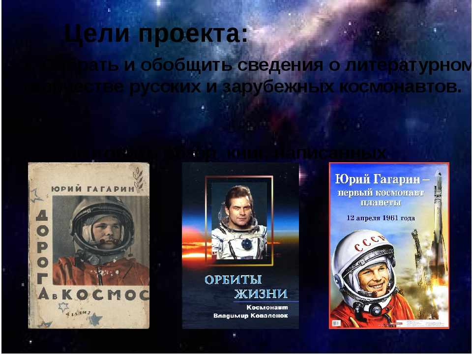 Цели проекта: 1. Собрать и обобщить сведения о литературном творчестве русски...