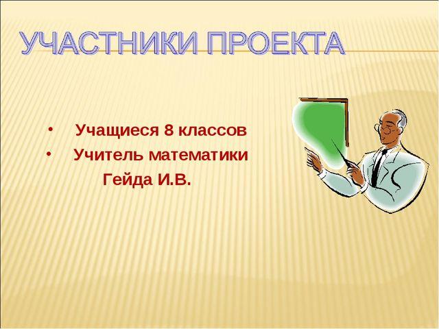 Учащиеся 8 классов Учитель математики Гейда И.В.