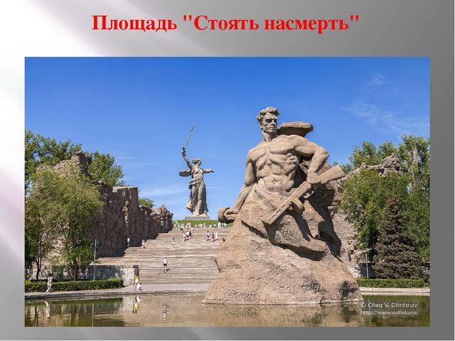 """Площадь """"Стоять насмерть"""""""