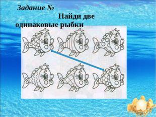 Задание № Найди две одинаковые рыбки