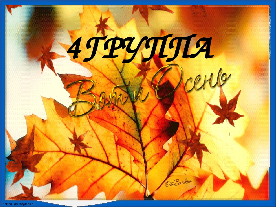 4ГРУППА FokinaLida.75@mail.ru