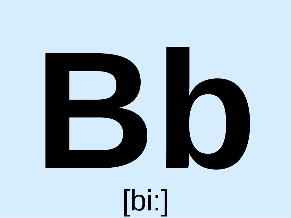 Bb [bi:]