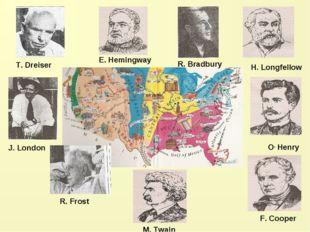 R. Bradbury H. Longfellow O, Henry F. Cooper M. Twain R. Frost J. London E. H