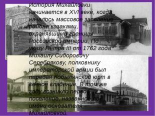 История Михайловки начинается в XVI веке, когда началось массовое заселение
