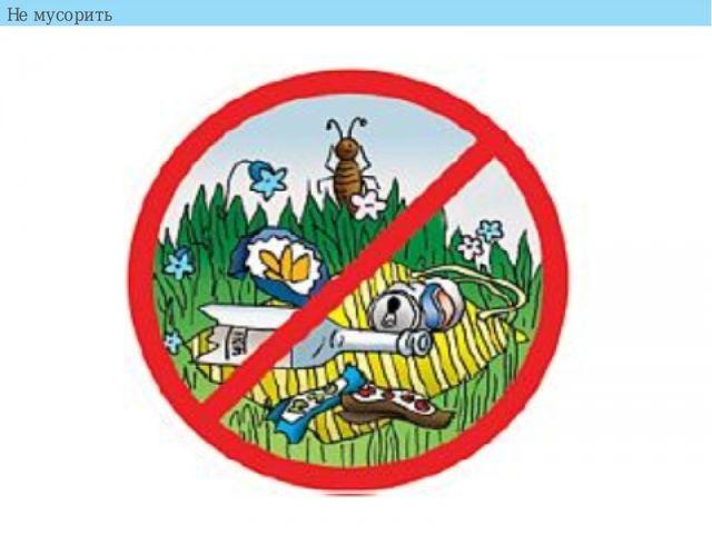 Не мусорить