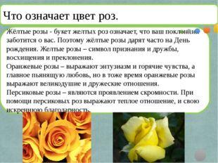 Жёлтые розы- букет желтых роз означает, что ваш поклонник заботится о вас.