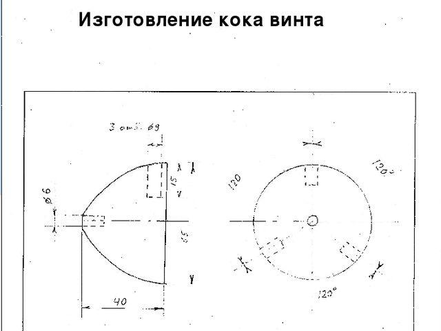 Технологическая карта №3 Изготовление кока винта № наименование кол-во масшта...