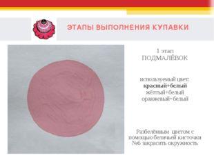 ЭТАПЫ ВЫПОЛНЕНИЯ КУПАВКИ 1 этап ПОДМАЛЁВОК используемый цвет: красный+белый