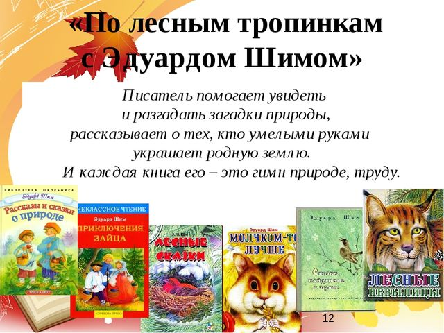 Писатель помогает увидеть и разгадать загадки природы, рассказывает о тех, кт...