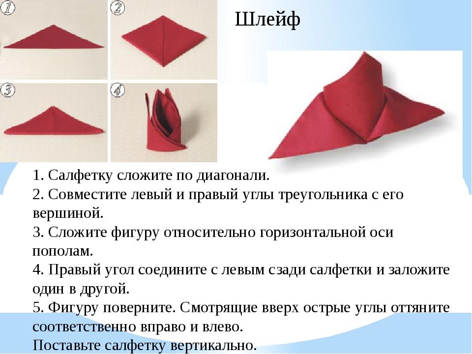 Саше-уголки 1. Исходно салфетка сложена вчетверо лицевой стороной наружу (отк...