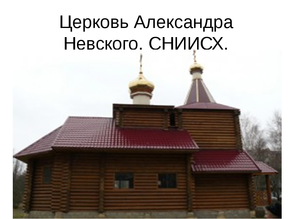 Церковь Александра Невского. СНИИСХ. Церковь Александра Невского. СНИИСХ