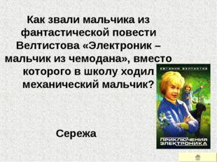 Как звали мальчика из фантастической повести Велтистова «Электроник – мальчик