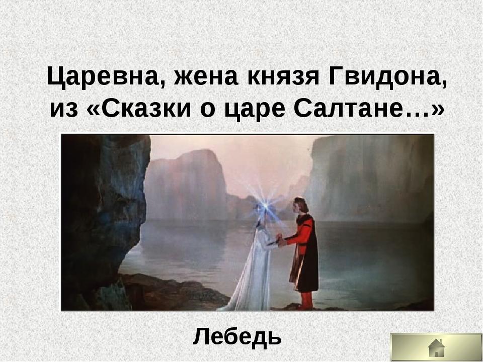 Царевна, жена князя Гвидона, из «Сказки о царе Салтане…» Лебедь