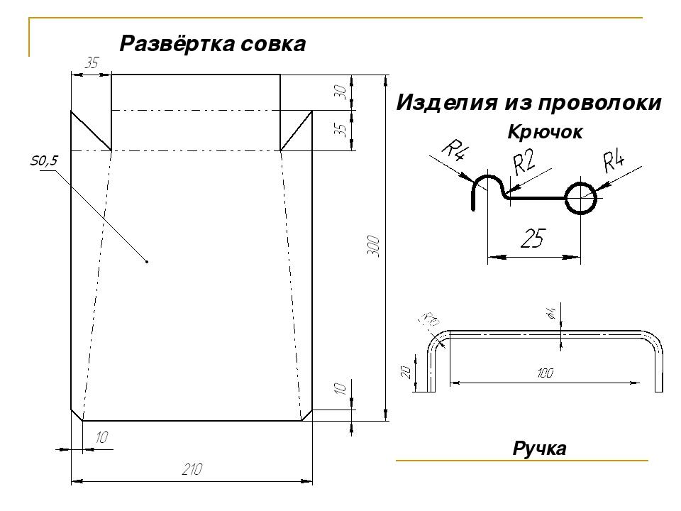 Развёртка совка Изделия из проволоки Крючок Ручка