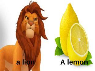 a lion A lemon