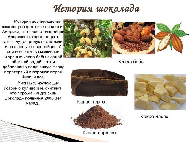 История возникновения шоколада берет свое начало из Америки, а точнее от инд...