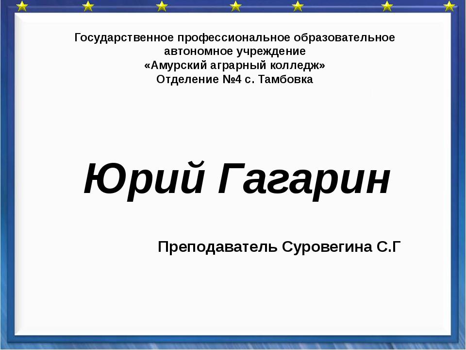 Государственное профессиональное образовательное автономное учреждение «Амур...