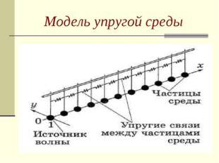 Модель упругой среды
