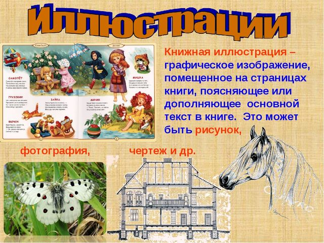 Книжная иллюстрация – графическое изображение, помещенное на страницах книги...