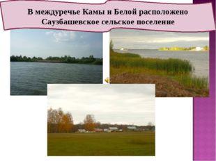 В междуречье Камы и Белой расположено Саузбашевское сельское поселение
