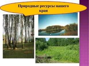 Природные ресурсы нашего края