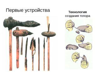 Первые устройства Технология создания топора