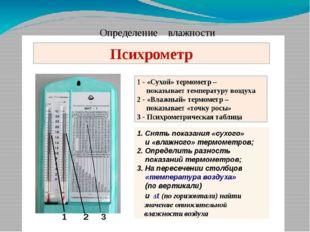 Определение влажности Как же определить относительную влажность с помощью пси