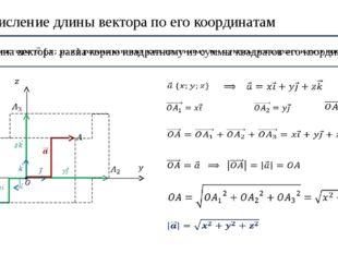 2. Вычисление длины вектора по его координатам