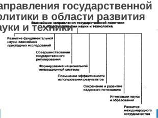 Направления государственной политики в области развития науки и техники