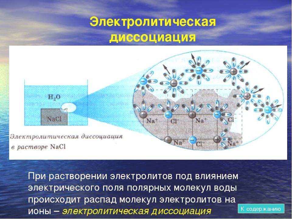 При растворении электролитов под влиянием электрического поля полярных молеку...
