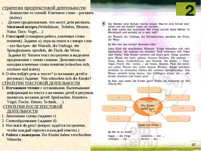 стратегии предтекстовой деятельности: Знакомство со схемой. Ключевое слово –...
