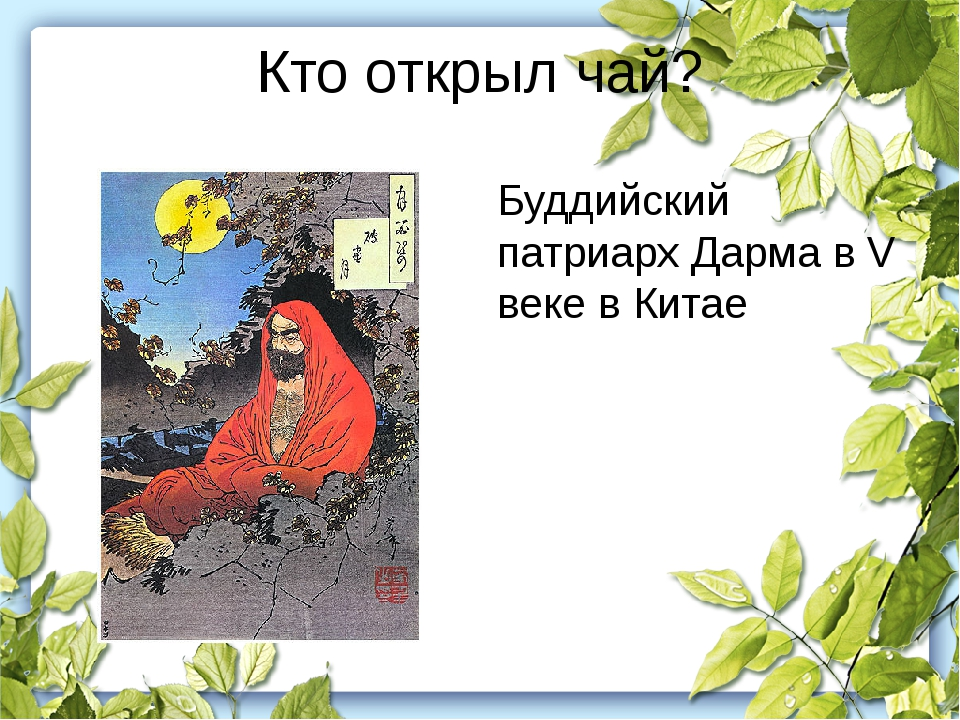 Кто открыл чай? Буддийский патриарх Дарма в V веке в Китае
