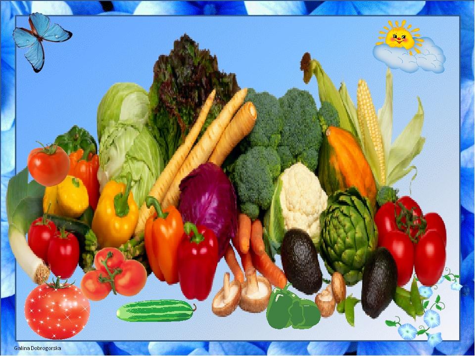 Овощи и фрукты – самые витаминные продукты.