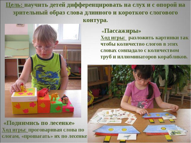 Цель: научить детей дифференцировать на слух и с опорой на зрительный образ с...