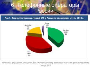 6. Телефонные операторы России