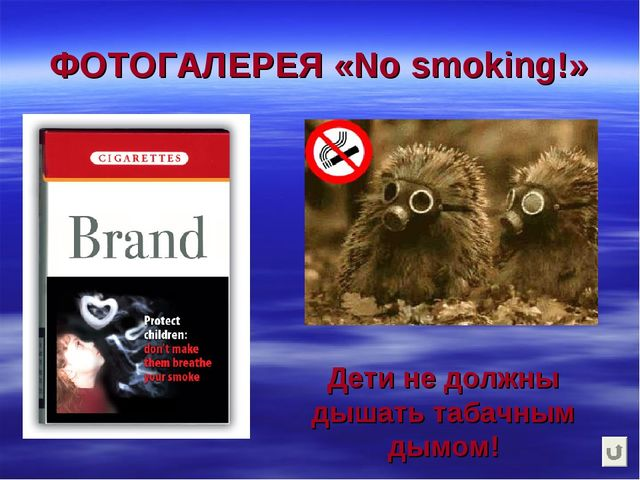 ФОТОГАЛЕРЕЯ «No smoking!» Дети не должны дышать табачным дымом!