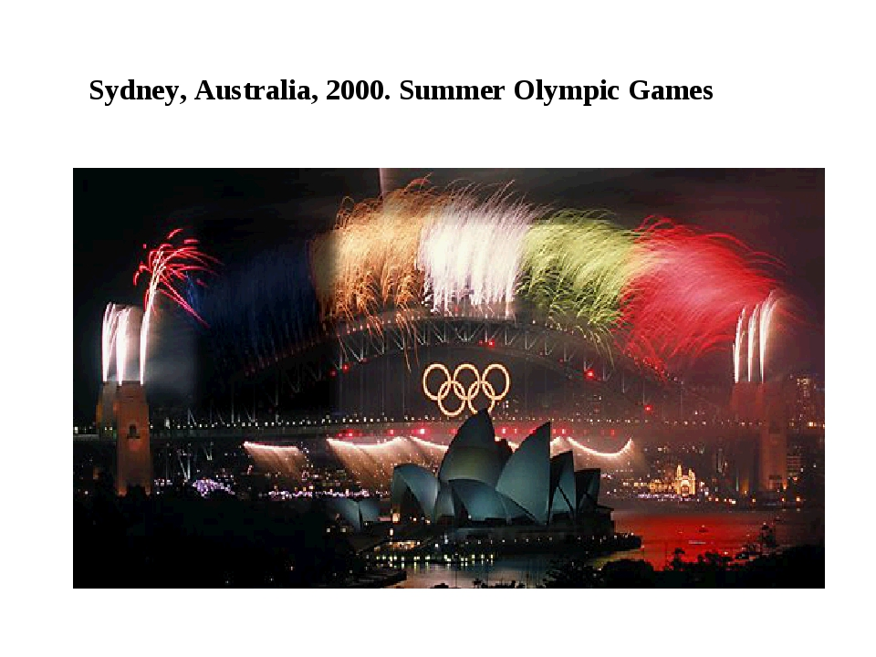 Sydney, Australia, 2000. Summer Olympic Games