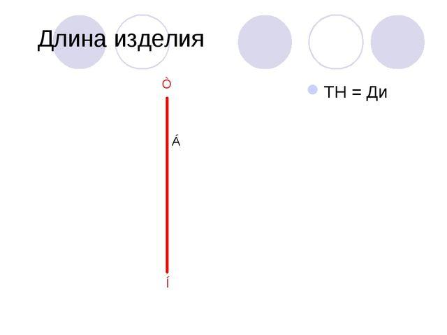 Длина изделия ТН = Ди