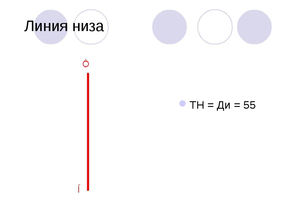Линия низа ТН = Ди = 55