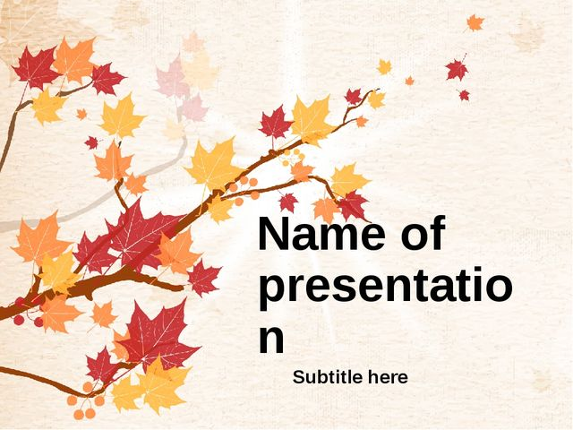 Name of presentation Subtitle here